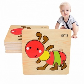 3D-Insects-Wooden-Clutch-Plate-Puzzle-Toy-Early-Childhood-Educational-Toy-For-Children-Cognitive-Ability-(8-PCS)-Yellow