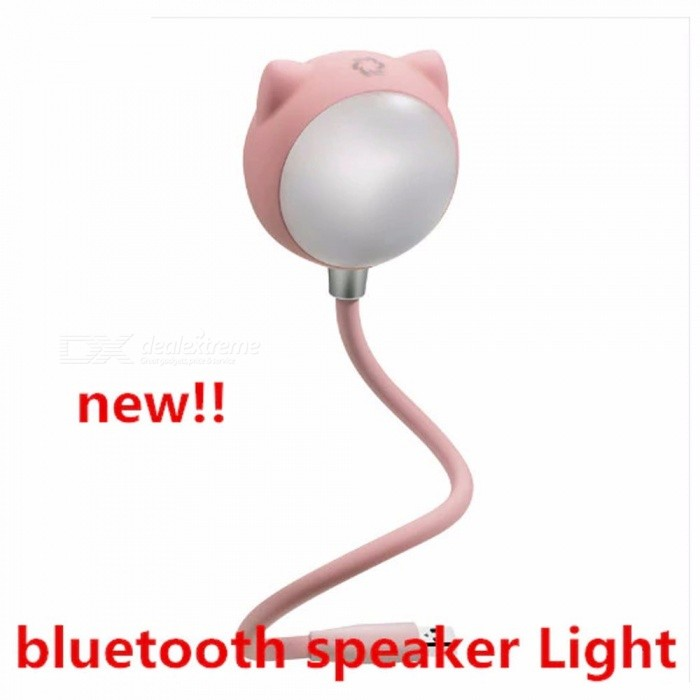 2 In 1 Portable Bluetooth Speaker LED Book Light USB Rechargeable Eye Protect Touch Table Lamps Dimmable Light Speakers White/Purple