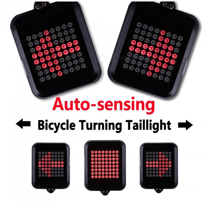 ESAMACT LED Bicycle Rear Tail Light With Laser USB Rechargeable MTB Bike Brake Light Intelligent Safety Warning Tail Light
