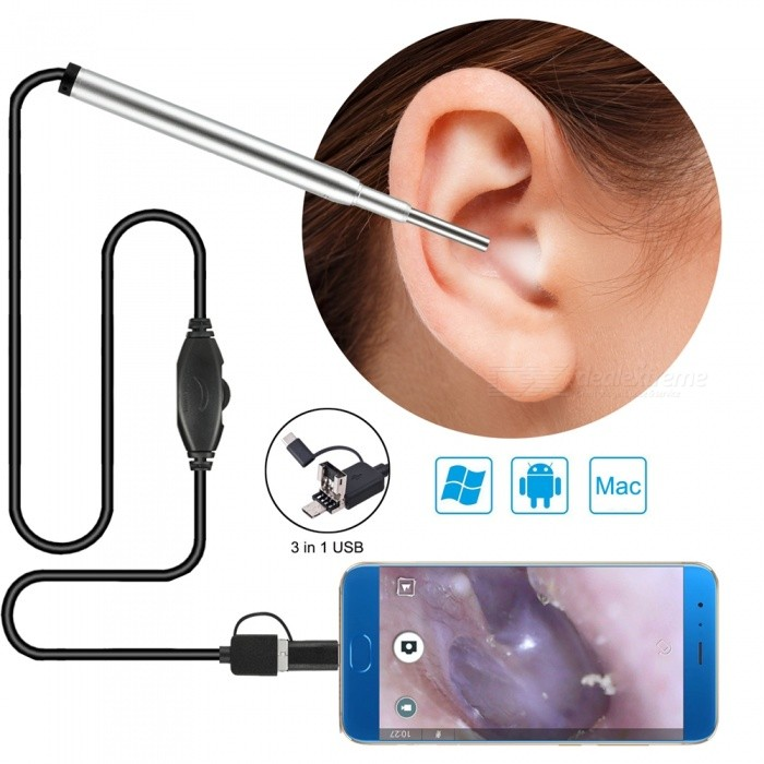 New 3.9mm Ear Spoon, USB Android Visible Ear Endoscope with 1.5m Cable
