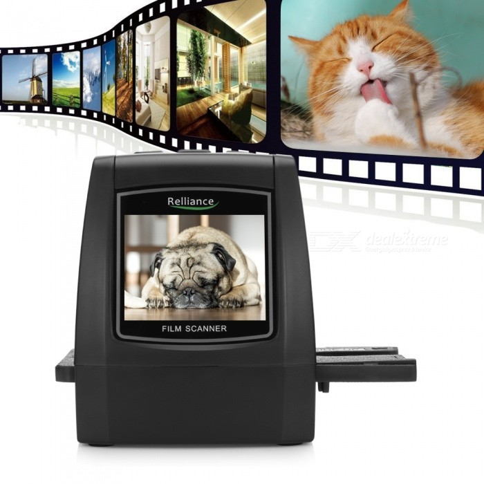 EC018 14MP 22MP 35mm Ultra High-Resolution Negative Film Slide Viewer Scanner, Photo Converter - US Plug