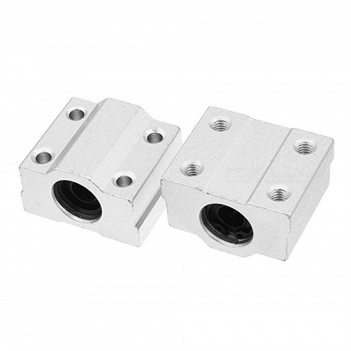 BTOOMET 2Pcs SCS6 LM6UU 6mm Bore Linear Motion Ball Bearing, 25mmx18mmx30mm Slide Bushing Block