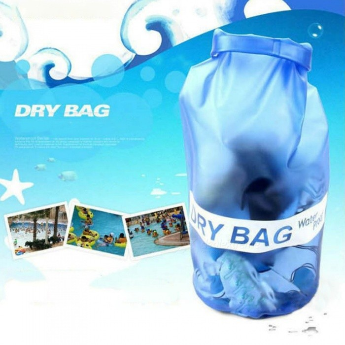 Outdoor Swimming Drifting Waterproof Bag Summer Beach Camera Cell Phone Storage Bag Blue