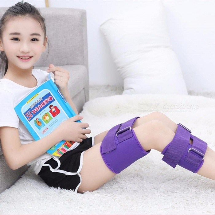 Posture Corrector O/X Legs Correction Braces Bandage Knock Knee Bowlegs Orthotic Straightening Thigh Knee Pads Support Red
