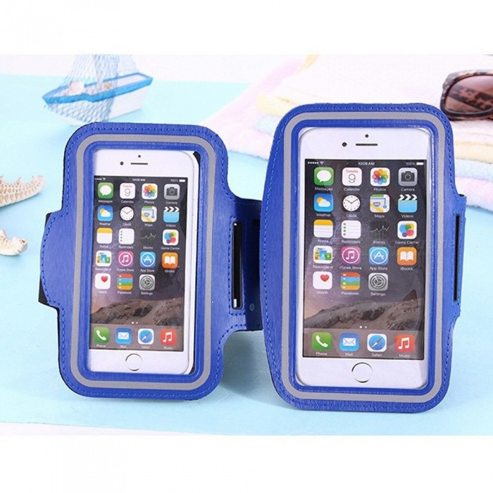 Smartphone Armband Running Sports Arm Band Belt Pouch Bag 5.5 Inch Mobile Phone Holder Wrist Bag For IPhone Case White