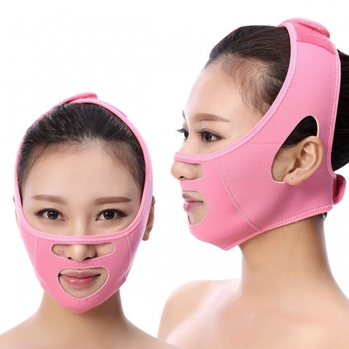 Women Slimming Face Band, Face-lift Slimming Cheek Mask, Anti Wrinkle Facial Strap, V Face Line Band Belt Bandage Blue