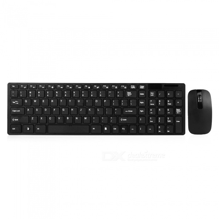 2.4GHz Ultra Thin Optical Wireless Keyboard And Mouse + USB Receiver With Protective Keyboard Cover Kit For PC Computer