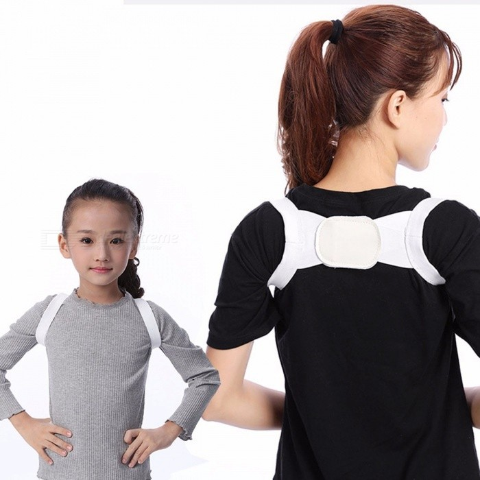 Student Spine Posture Corrector, Back Shoulder Posture Correction Band Belt, Humpback Back Pain Relief Corrector Brace White