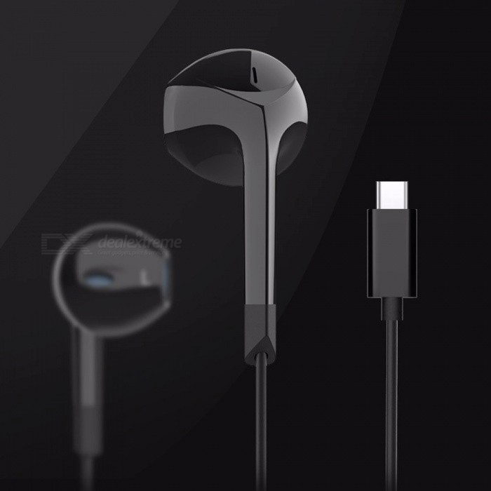 E6T New TYPE C Earphones In-ear Wired Headset MIX2 Universal Headphones For Letv Note 3 White