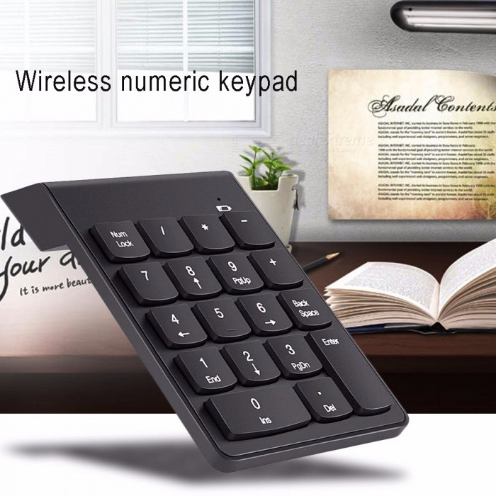 2.4G Wireless USB Numeric Keypad, Mini Numpad 18-Key Digital Keyboard For IMac/MacBook Air/Pro Laptop Notebook Desktop Black