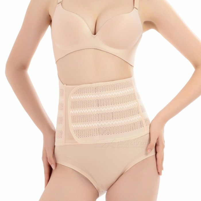 Women Postpartum Bandage, Pregnant Abdominal Girdle Band, Elastic Breathable Athletic Belly Waist Slimming Bandage Ivory/XLarge