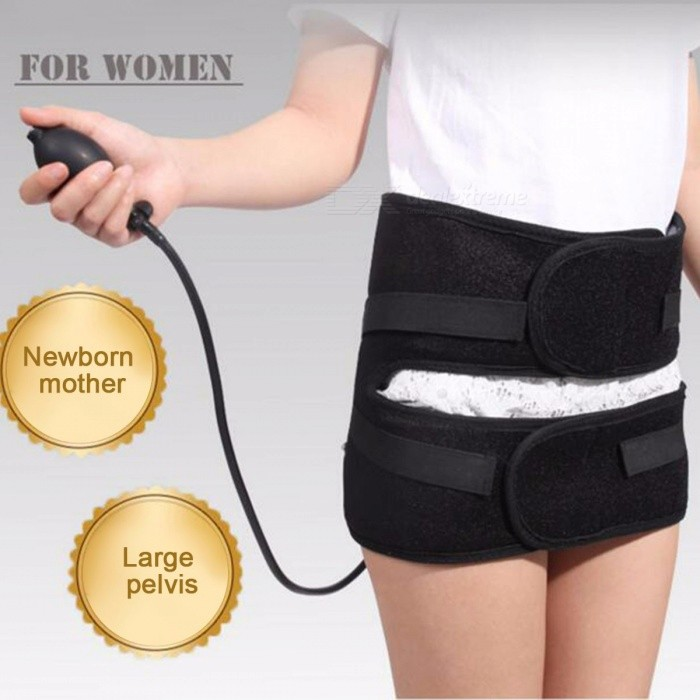 Women Air Pressure Pelvic Body Massage Repair Belt, Hip Tightening Strap Massager, Abdomen Correction Waist Trainer Black