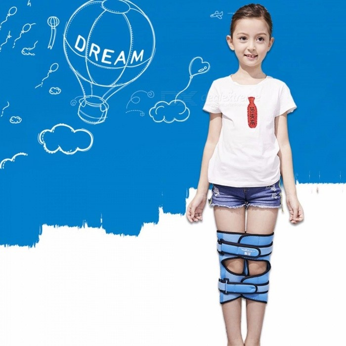 Leg Correction Band, Bowed Leg Straightening X/O Type Valgus Knee Corrected Belt, Posture Corrector For Children Student Blue