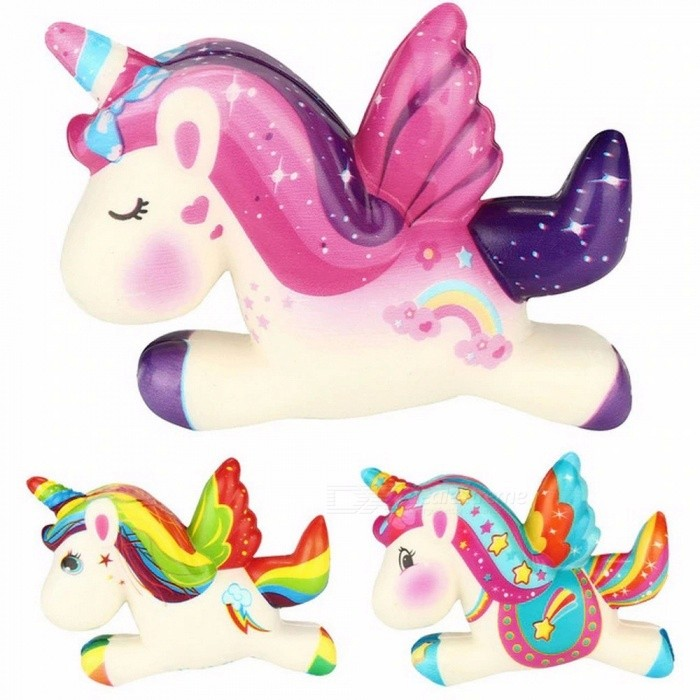 Cute Unicorn Kawaii Squishy Slow Boost Cartoon Doll Cream Scented Tightening Decompression Toy Kid Gifts 12*8cm Light Green