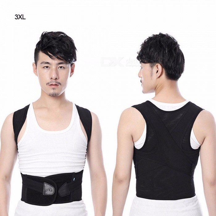 U9 Humpback Correction Belt, Adjustable Back Brace, Lumbar Shoulder Spine Posture Corrector Belt For Adult Children Black/Small