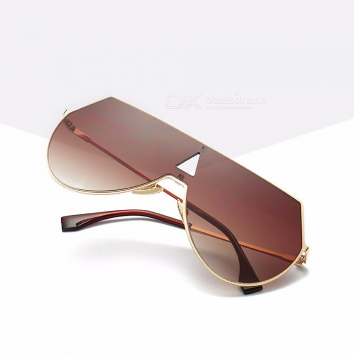 Fashion Shield Oversized Sunglasses, Women Men Unique One Piece Lens Coating Mirror Color Film Sunglasses Black