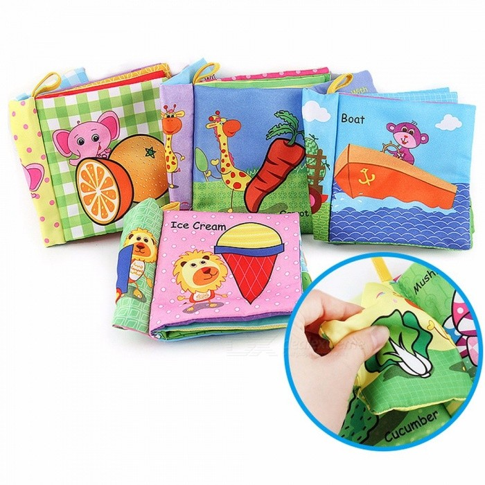 Early Education Books Childhood Baby Toys Cloth Book Non-toxic / Tasteless / Tear Is Not Bad / Not Fade Pink