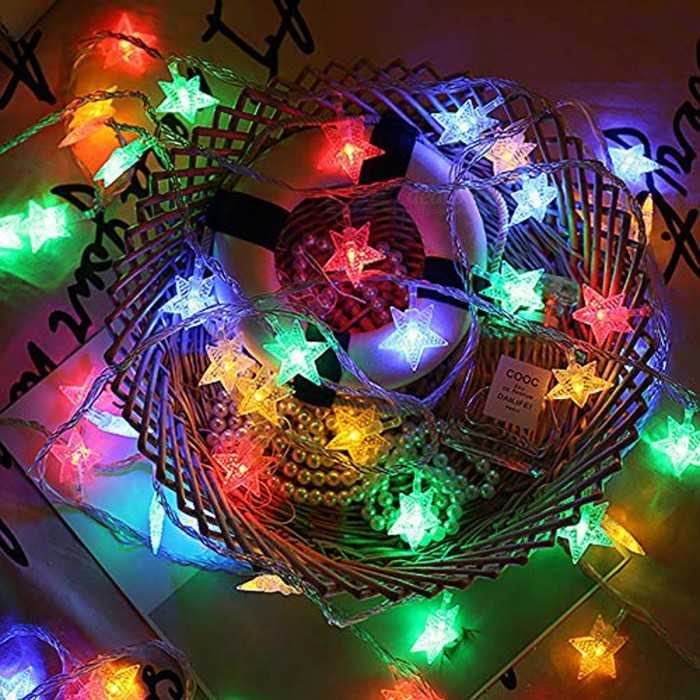 4 Pcs Xmas Lights 9.84ft/3m USB Powered LED String Lights with 20 LED (Multi-color Changing) - Warm White
