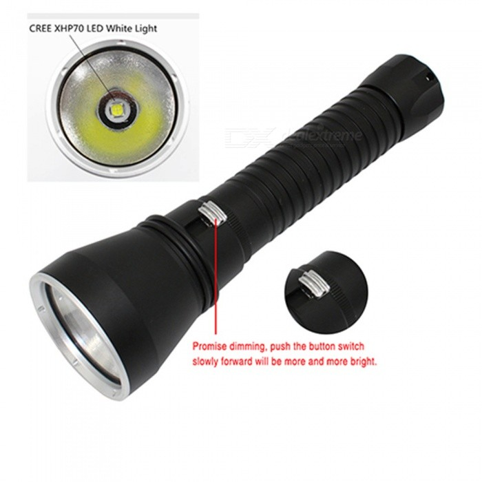 ESAMACT Waterproof XHP70 4200LM Scuba Diving Flashlight, LED Underwater Light Torch