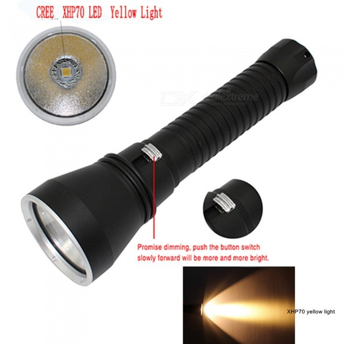 ESAMACT Waterproof XHP70 4200LM Scuba Diving Flashlight, LED Underwater Flash Light Torch