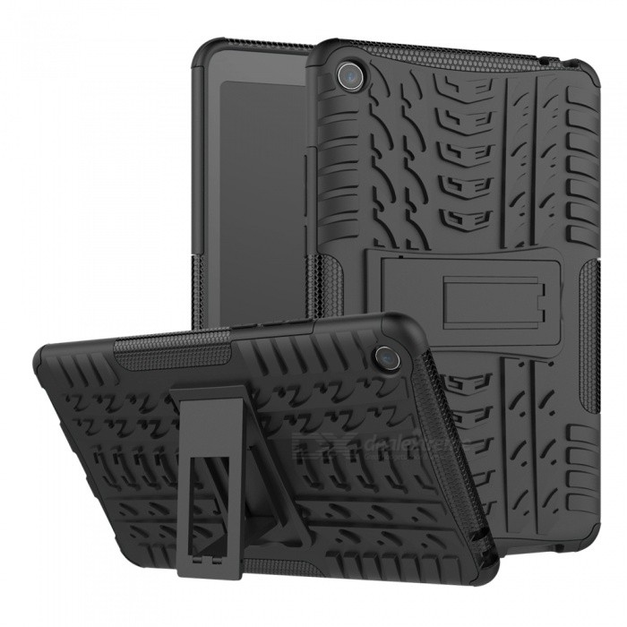 Double-protection Back Case with Bracket for Xiaomi Mi Pad 4 - Black