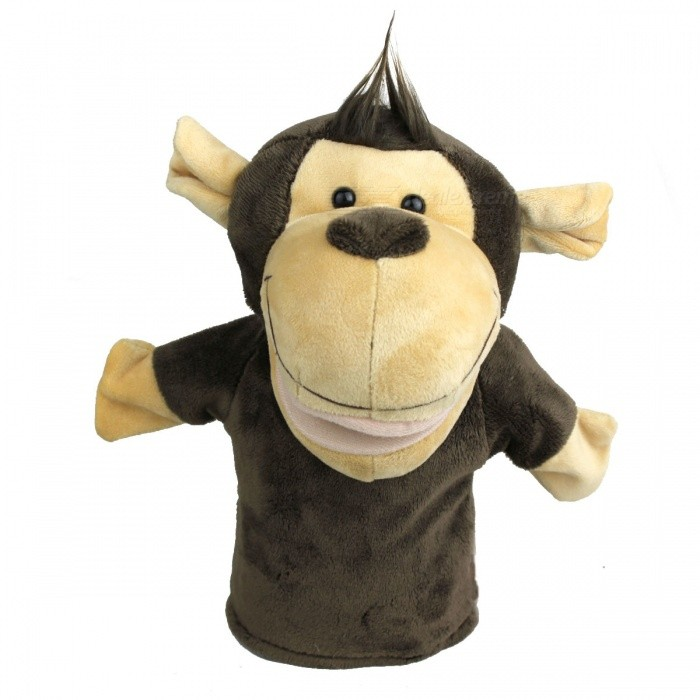 Buy Funny Hand Puppet Plush Toy Doll - Monkey with Litecoins with Free Shipping on Gipsybee.com