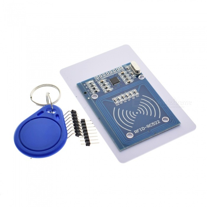 ZHAOYAO 1PC MFRC-522 RC522 RFID RF IC Card Inductive Module with Free S50 Fudan Card Key Chain