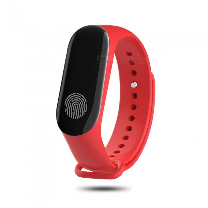 Cwxuan IP67 Waterproof OLED Screen Smart Bracelet with Heart Rate / Blood Pressure Monitoring Multi-Sports Mode - Red