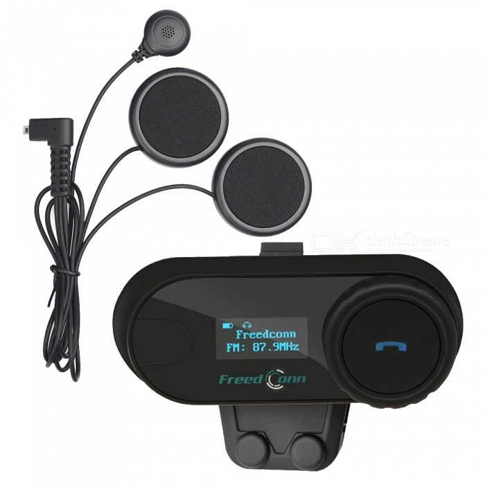 TCOM-SC BT Interphone, Motorcycle Helmet Wireless Bluetooth Headset Intercom - EU Plug
