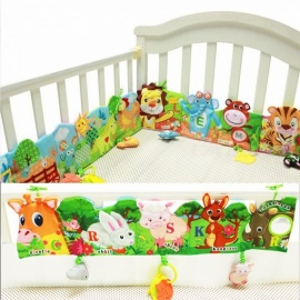 Baby Bed Beschermer.Baby Cloth Book Early Puzzle Teaching Toy English Palm Book Stereo