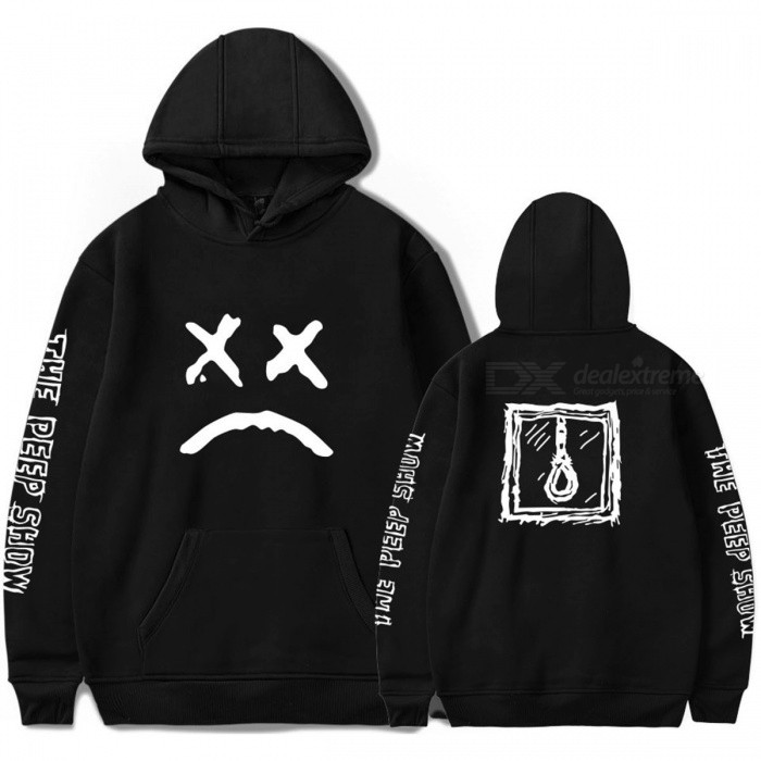 New Lil Peep Street Hoodies Cotton Long Sleeve Sweater With Hooded Winter For Men Women Fitness Breathable Black/S