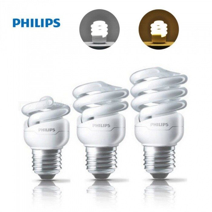 Philips E27 Large Power Spiral LED Light Bulb, Energy Saving LED Lamp Bulb For Home Indoor Lighting Warm White/5w/White