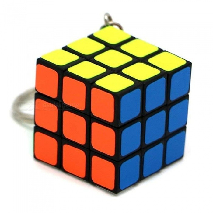 Qiyi Cube Keychain 3x3 Speed Cube Stickerless Magic Cube Puzzles Toys