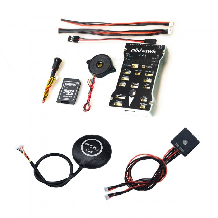 Pixhawk PX4 Autopilot PIX 2.4.8 32 Bit Flight Controller with Safety Switch and Buzzer / 16GB Card / M8N GPS / LED Module