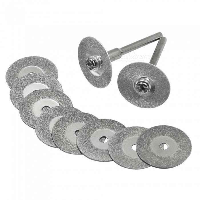 12pcs 20mm Electric Grinder Diamond Cutting Saw Blade Set - Silver