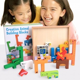 Animals-Building-Blocks-Jigsaw-Puzzles-Montessori-Creative-Cartoon-Card-Board-3D-Block-Kids-Educational-Colorful-Toy-Multicolor