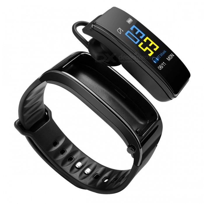 DMDG 2 In 1 Smart Watch With Bluetooth Headset Pedometer Heart Rate Monitor Answer And Dail Call