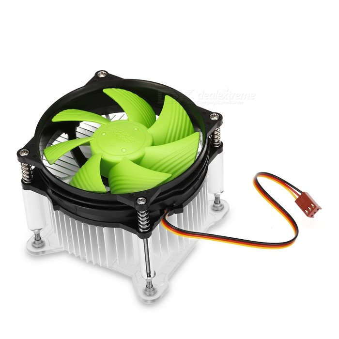 Aluminum Noise-resistant CPU Cooling Fan - Green