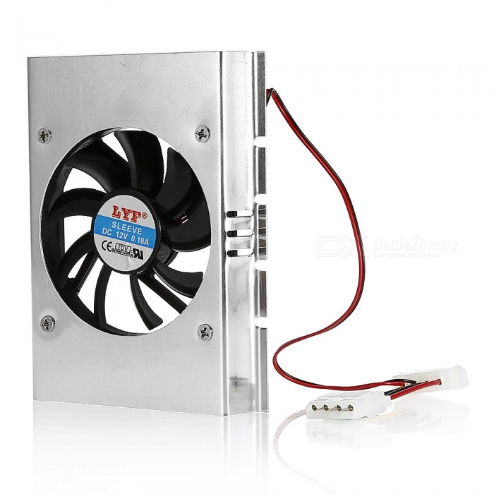3.5 Inches Hard Disk Radiator, Cooling Fan - Silver