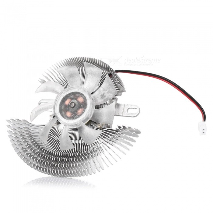 Aluminum VGD Card Cooler 9-Blade Fan for Computer - Silver