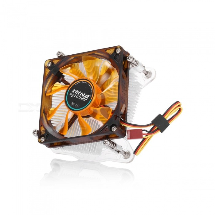 T28 Ultrathin Copper Core CPU Cooling Fan Cooler  for Intel LGA 1156/1155/1150 - Brown