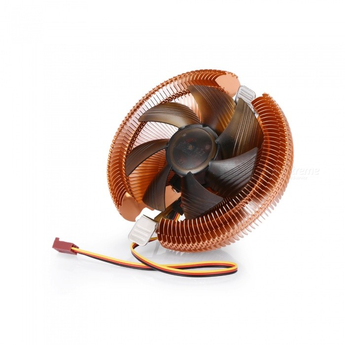 Z300 Desktop PC CPU Fan Radiator 7-Color Mute for AMD Intel - Red Copper