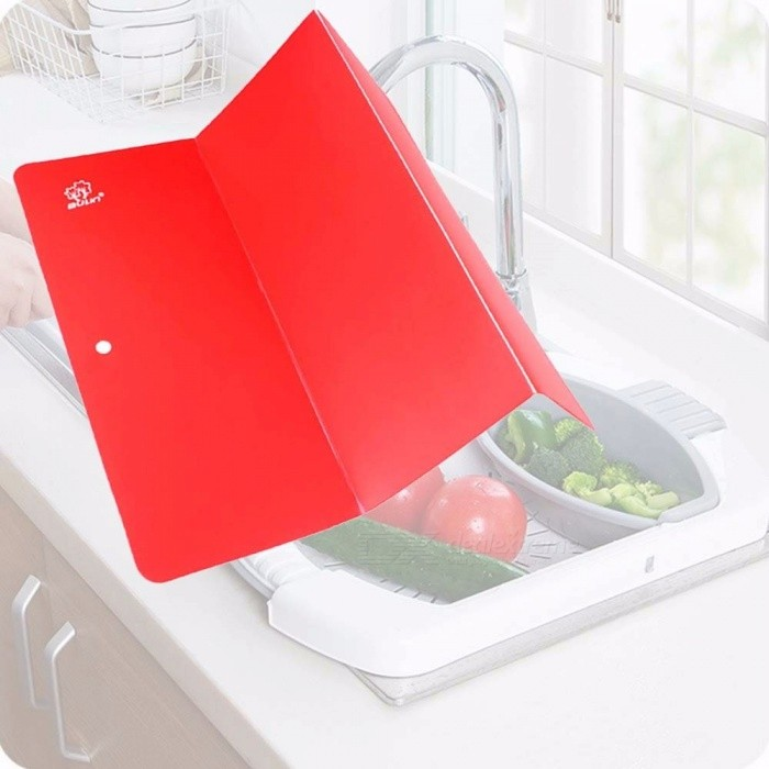 Folding Camping Cutting Board Slim And Lightweight Picnic Eco-Friendly Non-slip Vegetable Boards For Traveling Camping Red