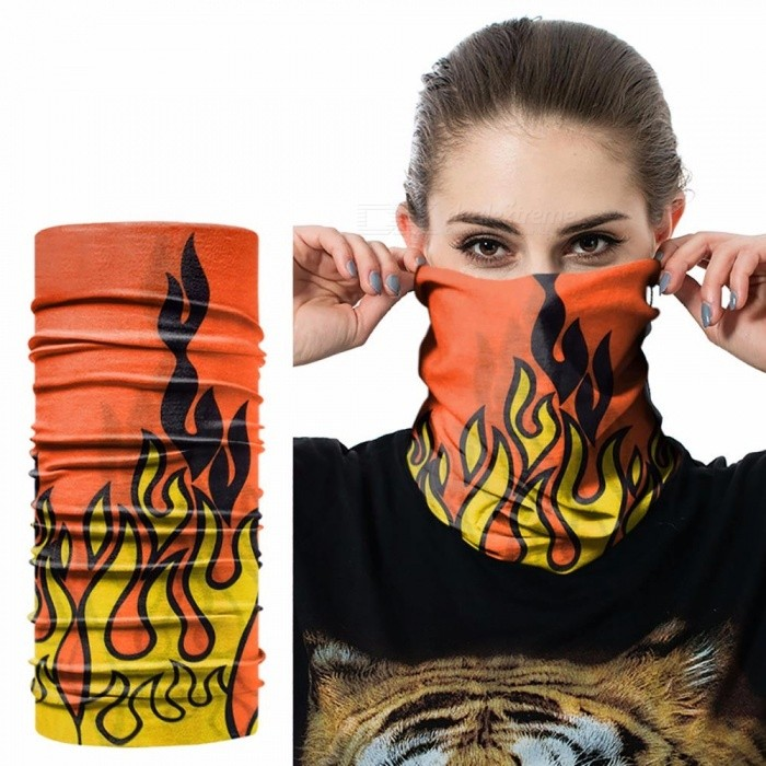 Digital Print Seamless Magic Variety Sports Scarf Outdoor Riding Headscarf Headband Sunscreen Face Mask Hat Green
