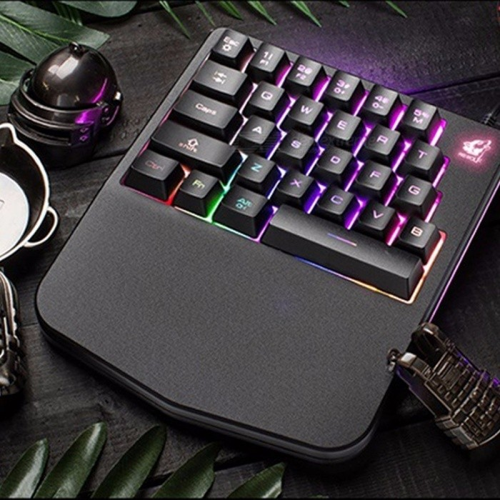 k11 mini portable usb wired one hand mechanical game keyboard with backlight for profession. Black Bedroom Furniture Sets. Home Design Ideas