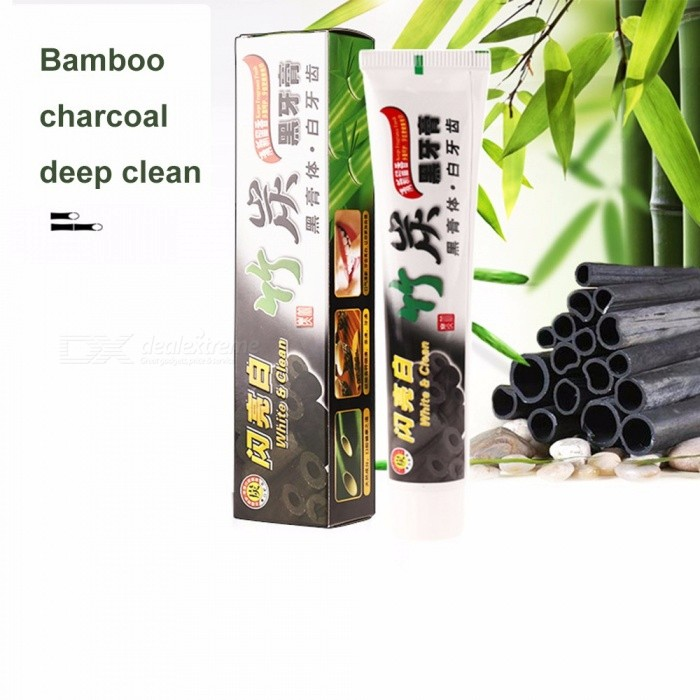Bamboo Charcoal Toothpaste Whitening Black Charcoal Oral Hygiene Toothpaste 100g