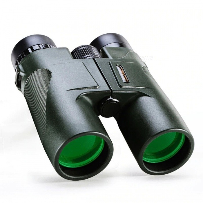 Military HD 10x42 Binoculars, Professional Hunting Telescope, High Quality Zoom Vision No Infrared Eyepiece Green