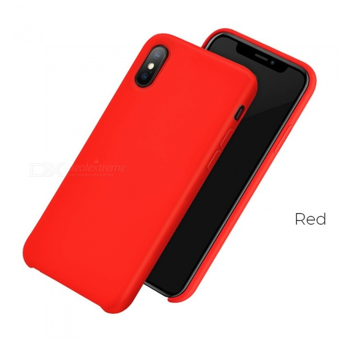 Durable Thin Slim Anti-Scratch Silicone Rubber Protective Phone Case Cover For IPHONE XS, XS Plus, 9 Red/iPhone XS 5.8