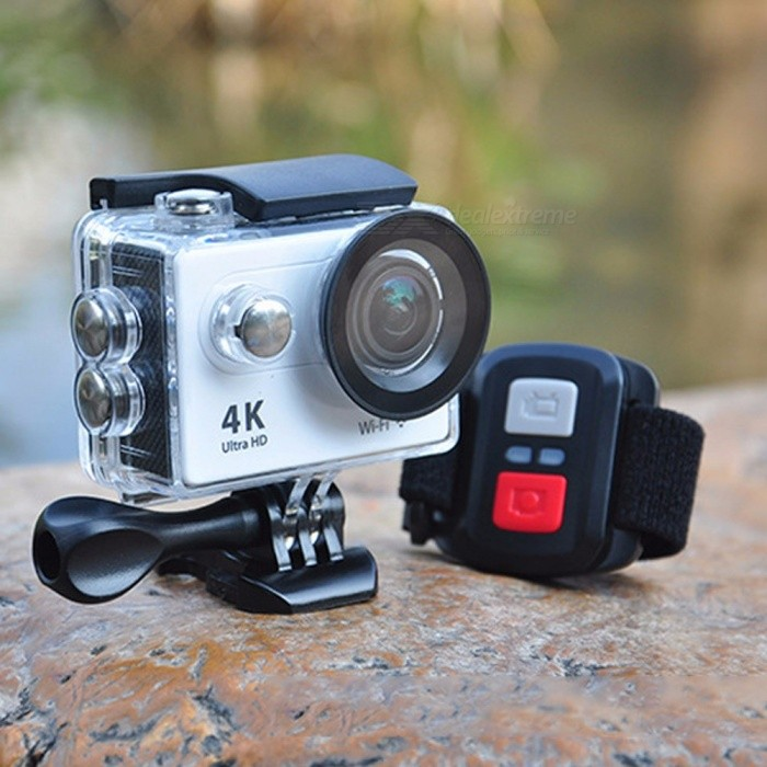 H9R Ultra HD 4K 2.4G Remote Wi-Fi Action Camera, 30m Waterproof 2.0 Inches Screen 1080P Sports Camera DV White