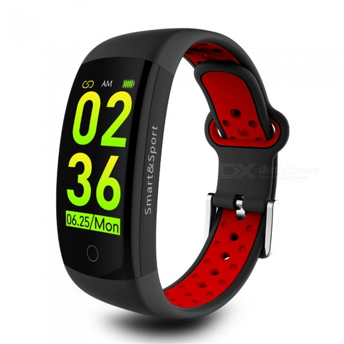 Q6S 3D Dynamic Color Screen Smart Bluetooth Bracelet / Heart Rate / Blood Pressure / Sleep Monitoring /IP68 Waterproof - Red